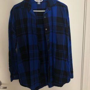 blue/black flannel